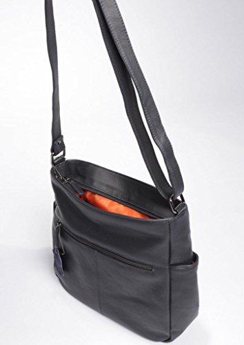Josephine Osthoff Handtaschen-Manufaktur Ascot - schwarz -, Borsa a spalla donna Nero nero 28,5 cm breit, 19, cm hoch und 5 cm/ 8 cm tief