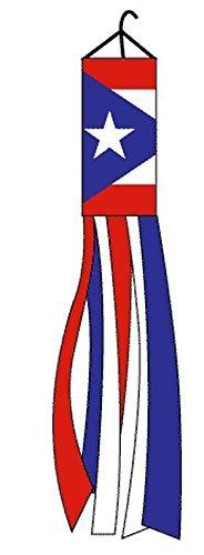 Puerto Rico Polyester 60 Inch Windsock Outdoor Garden Wind Sock PR (Puerto Rico Kitchen)