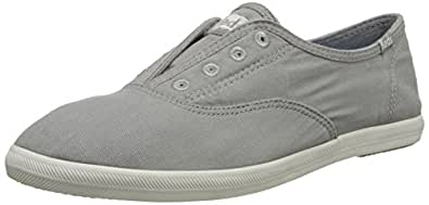 Keds Women's Chillax Washed Laceless Slip-On Sneaker, Drizzle Gray, 5 M US