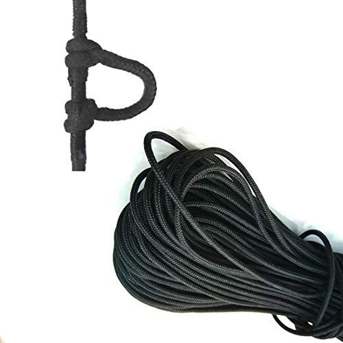 CUPID 12 Feet Archery D Loop Rope Bow String Release Nock Durable Wire U Nok Ring Nocking Loop Buckle, 2.4mm 0.09 in