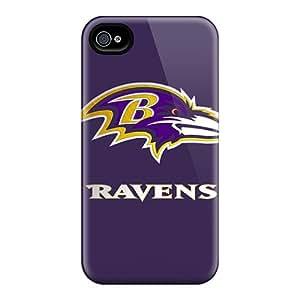 Hot Fashion XnxLe4491YxSJV Design Case Cover For Iphone 4/4s Protective Case (baltimore Ravens)