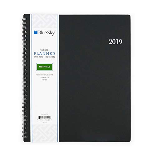 "Blue Sky 2019 Monthly Planner, Flexible Cover, Twin-Wire Binding, 8"" x 10"", Enterprise -  Blue Sky the Color of Imagination, LLC, 111153.0"