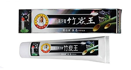kuulee 100 natural active whitening charcoal toothpaste black