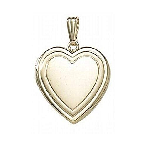 PicturesOnGold.com 14K Gold Filled Heart Locket 3/4 Inch X 3/4 Inch