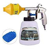 Car Cleaning Foam Gun - High Pressure Tornado Washing Cleaner Kit - Turbo Pro Automotive Care Detailing Tools - Exterior Air Pulse Sprayer Nozzle - 1L Soap Bottle