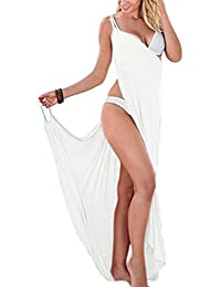 Women Spaghetti Strap Backless Wrap Bikini Cover Up Dress Swimwear Swimsuit