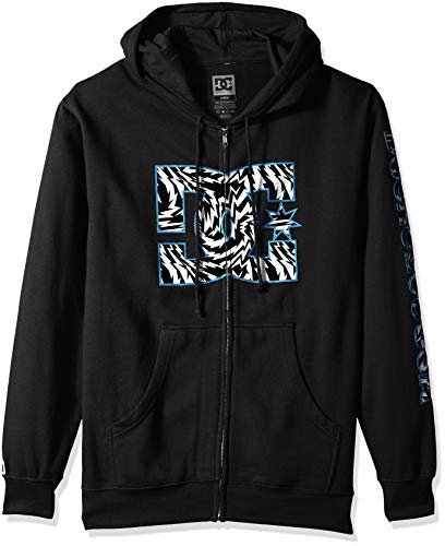 DC Apparel Men's Ken Block Founders Series Zip Up Sweatshirt Hoodie, Black KB Lightning ZH, XXL