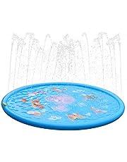 Dracarys Splash Pad Espolvorear y Splash Jugar Mat Juguete - Jardín Césped Juguete Spray de Agua para Niños -Juguete Fuente de Verano para Niños Niñas. (68 Pulgada)