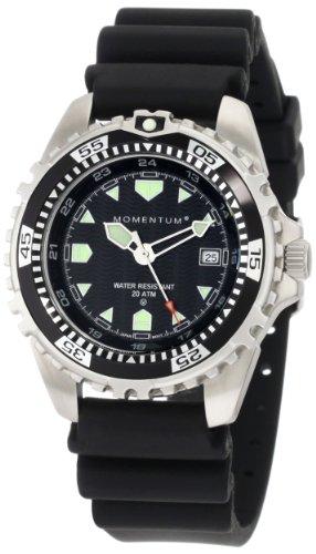 Momentum Men's 1M-DV00B1B M1 Black Dial Black Rubber Dive Watch (Momentum Watch Dive)