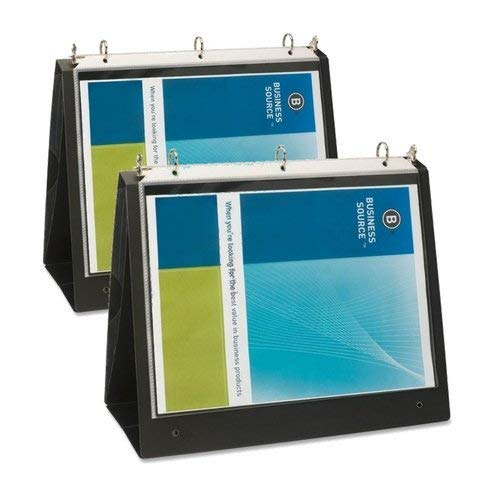 Business Source 1-Inch Easel Landscape Presentation Folder Binder (2 Pack)