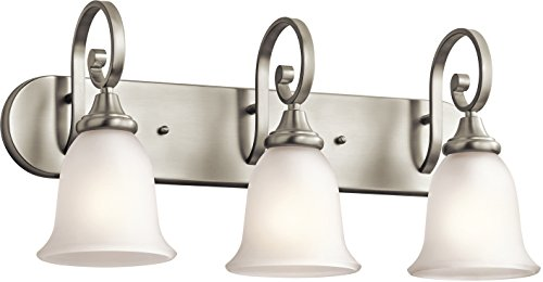 Kichler 45055NI Monroe Bath 3-Light, Brushed Nickel (Vanity Nickel Brushed Sterling)