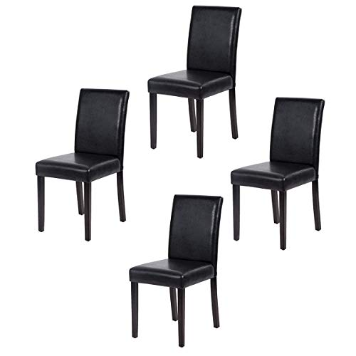 FDW Dining Chairs Dining Room Chairs Parsons Chair Kitchen Chairs Set of 4 Dining Chairs Side Chairs for Home Kitchen Living Room (Renewed)