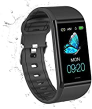 AK1980 Fitness Tracker , Activity Tracker Watch with Heart Rate Monitor Blood Pressure Sleep Monitor 1.14'