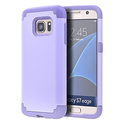 Galaxy S7 Armor Case,X-Master® [Shock Absorption] [Minimalism Series] Hybrid Dual Layer Armor Defender Protective Case Cover for Samsung Galaxy S7 5.1 inch (2016) (light purple)