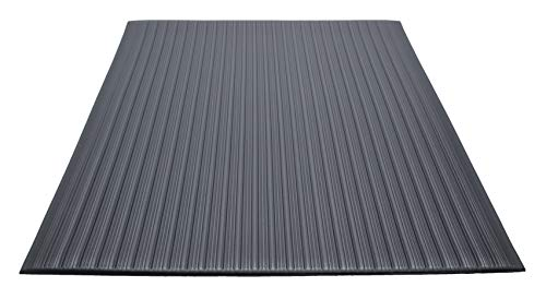 Guardian 24030502 Air Step Anti-Fatigue Floor Mat, Vinyl, 3'x5′, Black, Reduces fatigue and discomfort, Can be easily cut to fit any space