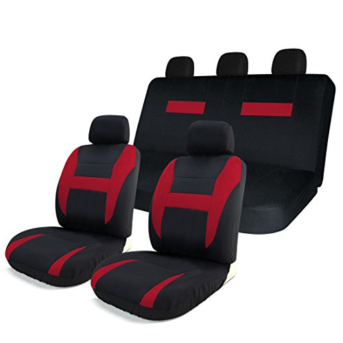 red and blue seat covers car - 6