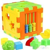 yingyue Plastic Animal Shape Alphabet Block Cube Baby Plaything Toy DIY Educational Cognitive Toys Gift