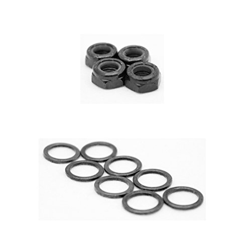 (Dime Bag Hardware Skateboard Truck Axle Washers (Speed Rings) Nuts for Speed Bearing Performance)
