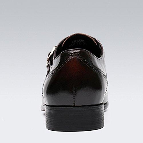 HWF Scarpe Uomo in Pelle Scarpe da uomo in pelle da lavoro formale con punta stile britannico (Colore : Marrone, dimensioni : EU39/UK6) Marrone