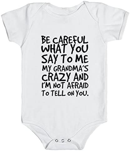 GBSELL Baby Boys Girls Newborn Infant Letter Print Romper Clothes Outfits