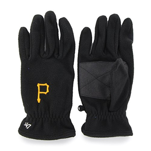 - MLB Pittsburgh Pirates Men's '47 Fleece Gloves, Black