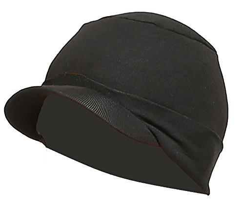 Gajraj Unisex Cotton Beanie Cap  COTTONHATBLACK_Black