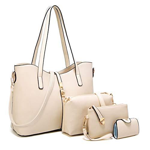 Regular Purse Set - YTL Women Fashion Synthetic Leather Handbags+Shoulder Bag+Purse+Card Holder 4pcs Set Tote