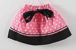 Mud Kingdom Polka Dot Toddler Girl\'s Birthday Clothing Set I am 3 Pink Shorts
