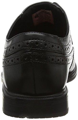 Rockport Essential Details Ii Apron Toe - Zapatos Planos con Cordones hombre Negro (Black Leather)