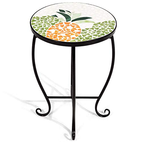 - Accent Table Plant Stand Scheme Garden Steel Pineapple Display Home Decor Indoor Outdoor