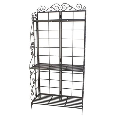 (USA Warehouse) PANACEA 89197 Bakers Rack Plant Stand Brnz -/PT# HF983-1754368303