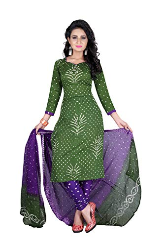 - Da Facioun Indian Women Designer Partywear Ethnic Traditonal Green Salwar Kameez.