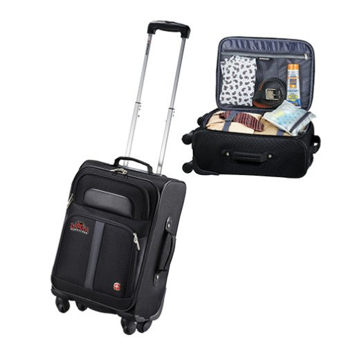 Lamar Wenger 4 Wheeled Spinner Carry On Luggage 'Primary Mark' by CollegeFanGear