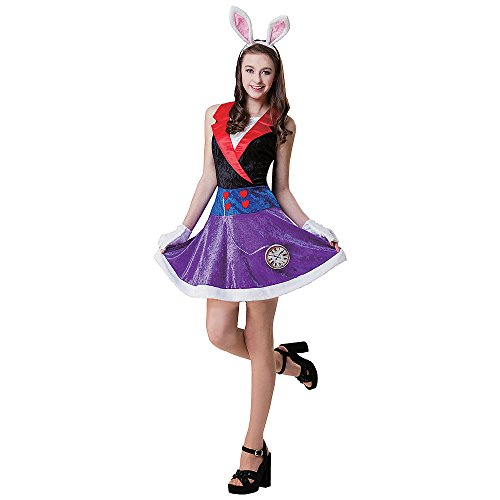 [Totally Ghoul Dream Rabbit Costume, Teen one size fits most] (Child White Rabbit Costume Alice In Wonderland)