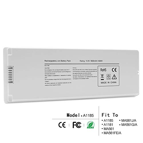 LQM 10.8V 5600mAh/60Wh New Replacement Li-ion Battery for Apple MacBook 13 A1185 A1181 MA561 MA561FE/A MA561G/A MA561J/A