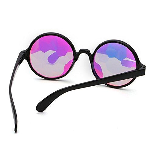 oras los de redondo de para Sombras 1 gafas Kaleidoscope de Mujer Gafas Steampunk las las sol Tipo Horrenz espejo de de de vidrios lujo se moda mujeres Cosplay de de Sun 6TOSWqxw