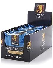 Byron Bay Cookies Single Wrap 12 White Choc Chunk and Macadamia Nut Cookies, 12 x 60g