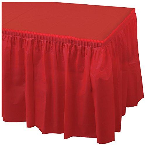 Hoffmaster 110011 Plastic Tableskirt, 14' Length x 29