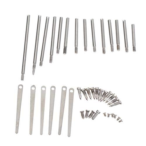 Homyl 14x Conjunto Rodillos Clave Tornillos de Fijación Superior Clarinet para Principiantes Producción Musical
