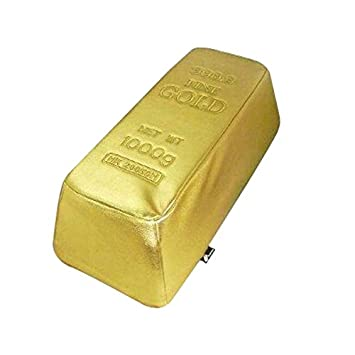 Pouf In The Form Of A Gold Ingot by Total Cadeau