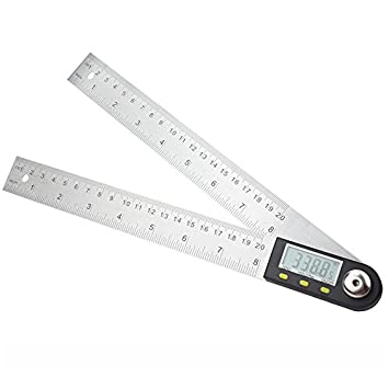 Regla de Medición de ángulo 7-inch Digital Protractor, 200 mm Regla de ángulo de Acero Inoxidable