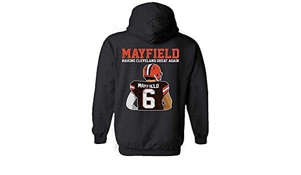 Amazon.com  My Frog Store Mayfield Making Cleveland Great Again Football  Lovers Jersey 6 Hoodie  Clothing 59ea32c17