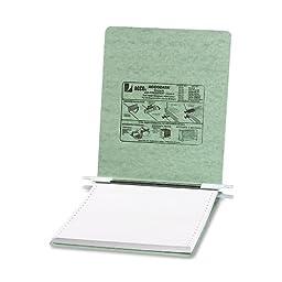 ACCO Pressboard Hanging Data Binder, 9.5 x 11 Inches Unburst Sheets, Light Green (54115)