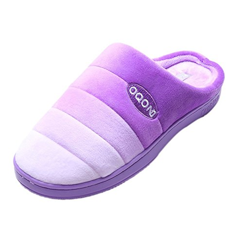 WILLIAM&KATE Unisex Slippers - Slippers House Womens/Mens Soft Coral Fleece Memory Foam Shoes Indoor/Outdoor Purple WZcv5l23g