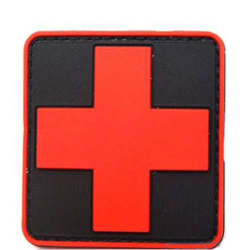 outdoor-products-pvc-patch-armband-the-medical-rescue-of-the-red-cross-chapter-black-background-red