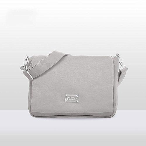 Forme el paquete plegable multi-funcional, bolso de la momia, bolso impermeable de la madre del mensajero del hombro ( Color : Gris ) Gris