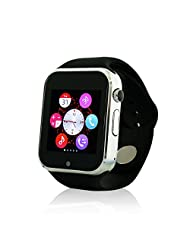Yuntab W10 Bluetooth Smart Sport Watch Fitness Watch Phone with Camera for iPhone Samsung HTC LG Android Smartphone (Black)