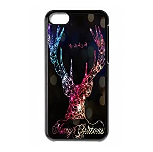 LJF phone case Christmas reindeer style hard back protector case for ipod touch 5
