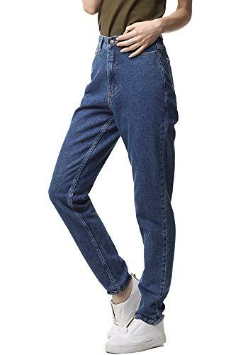 Classic Vintage Wash Jeans - ruisin High Waist Boyfriend Jeans for Women Vintage Sexy Mom Jeans Denim Pants Blue 25 x L32