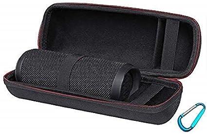Pushingbest Carry Case Silicone Cover Sling Bag for JBL Flip 5 Black Case for JBL Flip 5